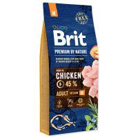 BRIT Premium by Nature Adult M 15kg + obojek FORESTO 70cm