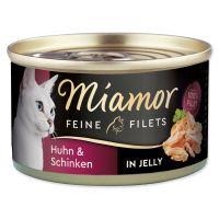 Konzerva MIAMOR Feine Filets kuře + šunka v želé 100g