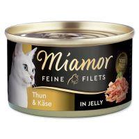 Konzerva MIAMOR Feine Filets tuňák + sýr v želé 100g