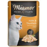 Kapsička MIAMOR Feine filets kuře + tuňák v želé 100g
