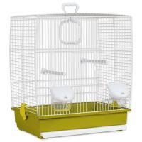 Klec BIRD JEWEL Klára bílo-zelená 39x25,5x45cm