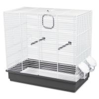 Klec BIRD JEWEL Tereza bílo-šedá 50,5x28x47cm