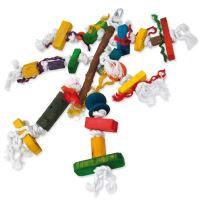 Hračka BIRD JEWEL Pletenec závěsná dřevo - provaz 40cm