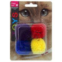 Hračka MAGIC CAT míček bavlněný s catnipem 3,75cm