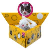 Hračka MAGIC CAT myšky v trojúhelníku 5cm 24ks