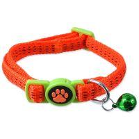 Obojek MAGIC CAT Nylon oranžový XS