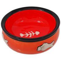 Miska MAGIC CAT keramická s rybkou oranžová 12,5cm