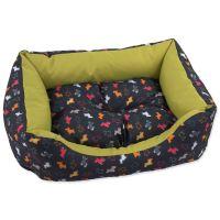 Sofa DOG FANTASY origami pes mix černo-zelené 83x70x20cm