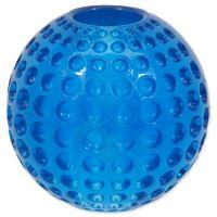 Hračka DOG FANTASY Strong míček gumový s důlky modrý 6,3cm