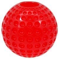 Hračka DOG FANTASY Strong míček gumový s důlky červený 6,3cm