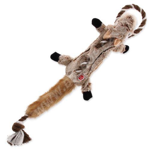 Hračka DOG FANTASY Skinneeez s provazem čipmank 57,5cm