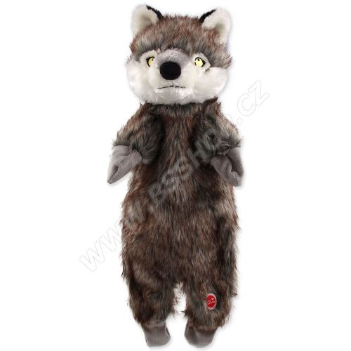 Hračka DOG FANTASY Skinneeez vlk plyšový 50cm