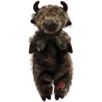 Hračka DOG FANTASY Skinneeez bizon plyšový 34cm