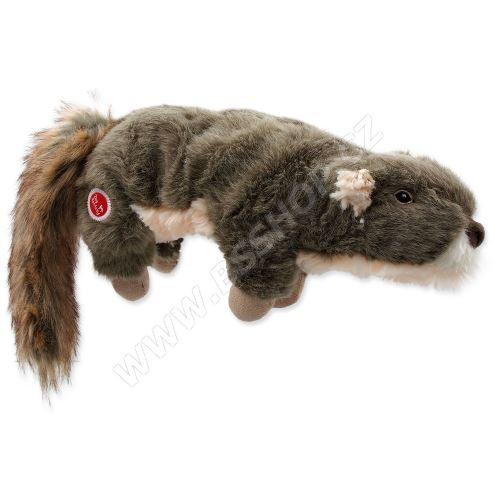 Hračka DOG FANTASY Skinneeez Plush pískací veverka 45cm