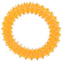 Hračka DOG FANTASY kroužek vroubkovaný oranžový 7cm