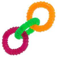 Hračka DOG FANTASY 3 kruhy gumové barevné 16cm