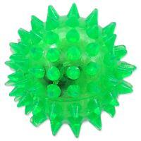 Hračka DOG FANTASY míček LED zelený 5cm