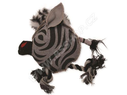 Hračka DOG FANTASY textilní zebra 22cm