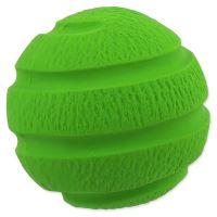 Hračka DOG FANTASY Latex Míč vroubkovaný zelený se zvukem 7,5cm