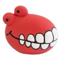 Hračka DOG FANTASY Latex zuby se zvukem červené 8cm