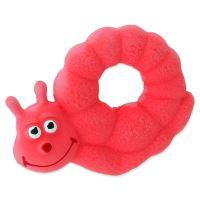 Hračka DOG FANTASY Latex Šnek růžový se zvukem 10cm