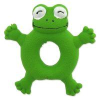 Hračka DOG FANTASY Latex Žába zelená se zvukem 10cm