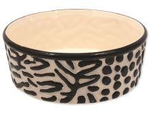 Miska DOG FANTASY keramická zebra 21,5cm - 1,7l
