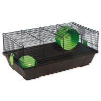 Klec SMALL ANIMAL Viktor černá se zelenou výbavou 50,5x28x21cm