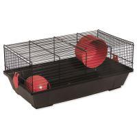 Klec SMALL ANIMAL Viktor černá s červenou výbavou 50,5x28x21cm