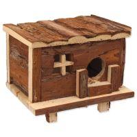 Domek SMALL ANIMAL Srub dřevěný s kůrou 18x13x13,5cm