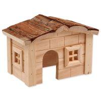 Domek SMALL ANIMAL dřevěný jednopatrový 20,5x14,5x12cm