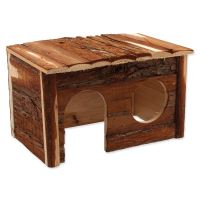Domek SMALL ANIMAL dřevěný s kůrou 28x18x16cm