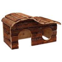 Domek SMALL ANIMAL Kaskada dřevěný s kůrou 31x19x19cm