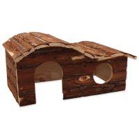 Domek SMALL ANIMAL Kaskada dřevěný s kůrou 43x28x22cm