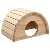 Domek SMALL ANIMAL Půlkruh dřevěný 24x17x15cm