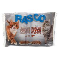 Kapsičky RASCO Cat Multipack s drůbežím/s játry 4x100g