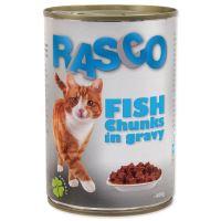 Konzerva RASCO Cat rybí kousky ve šťávě 400g
