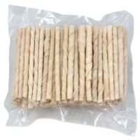 Tyčinky RASCO buvolí kroucené bílé 12,5cm 100ks