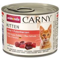 Konzerva ANIMONDA Carny kitten hovězí + krůtí srdíčka 200g