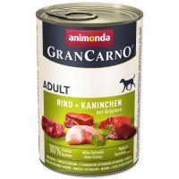Konzerva ANIMONDA Gran Carno hovězí + králík + bylinky 400g