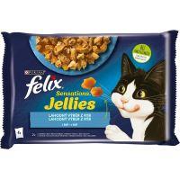 Felix Sensations Sauces Lahodný výběr z ryb v omáčce 4x85g