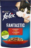 Felix cat Fantastic hovězí v želé 85g