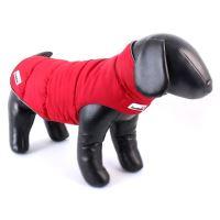 Zimní bunda Doodlebone Combi-Puffer červená/šedá