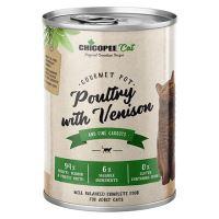 Chicopee Adult Gourmet drůbeží, zvěřina konzerva pro kočky 400g