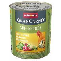 GRANCARNO Superfoods kuře,špenát,maliny,dýňová semínka 800 g pro psy