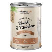 Chicopee Adult Gourmet kachna, kuře konzerva pro kočky 400g