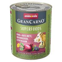 GRANCARNO Superfoods hovězí,čv.řepa,ostružiny,pampeliška 800 g pro psy