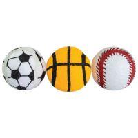 Tenisový míč sportovní pískací 6,5cm HipHop Dog (3 ks v balení)