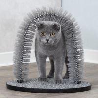 Masážní oblouk pro kočky 36x33cm šedý