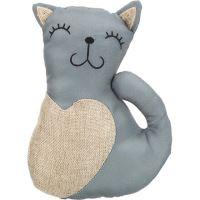 Kočka XXL, juta/polyester 22cm